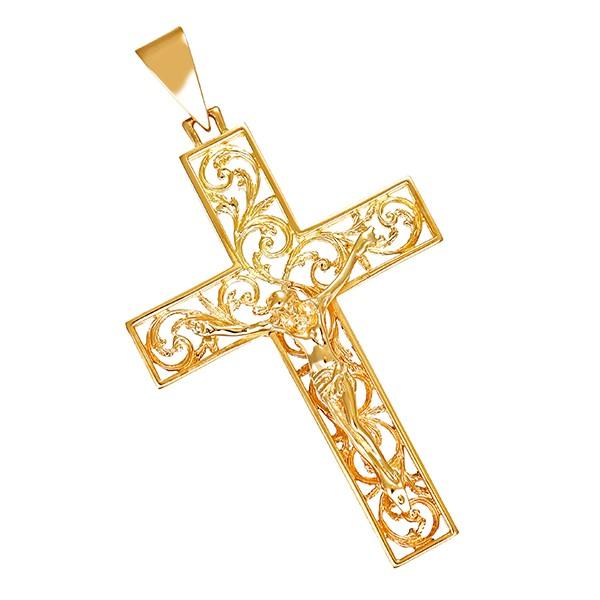 Anhänger 750 / 10,30gr Gelbgold Kruzifix Detailbild #1