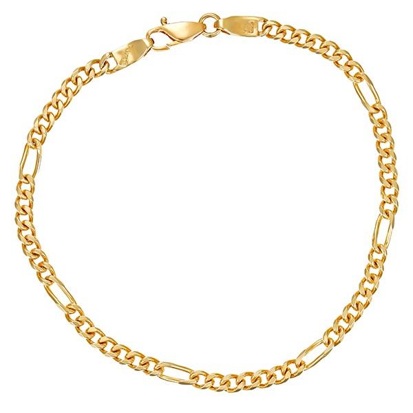 Armband 585 / 7,40gr Gelbgold L 21 cm Figaro- Detailbild #1