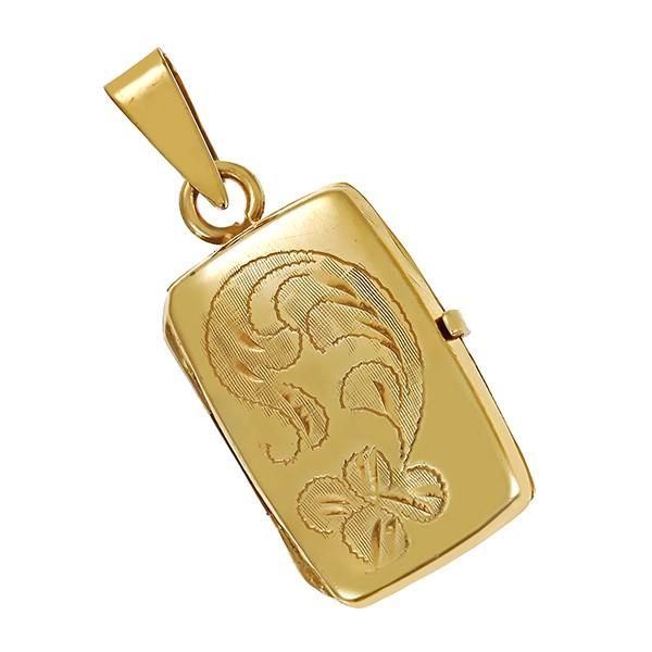 Anhänger 333 / 3,30gr Gelbgold Medaillon Detailbild #1