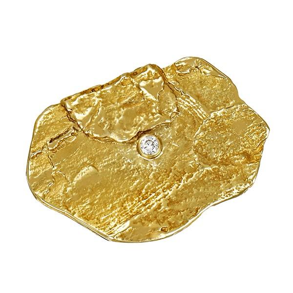 Brosche 585 / 7,20gr Gelbgold 1 Brill. ca. 0,04ct Detailbild #1