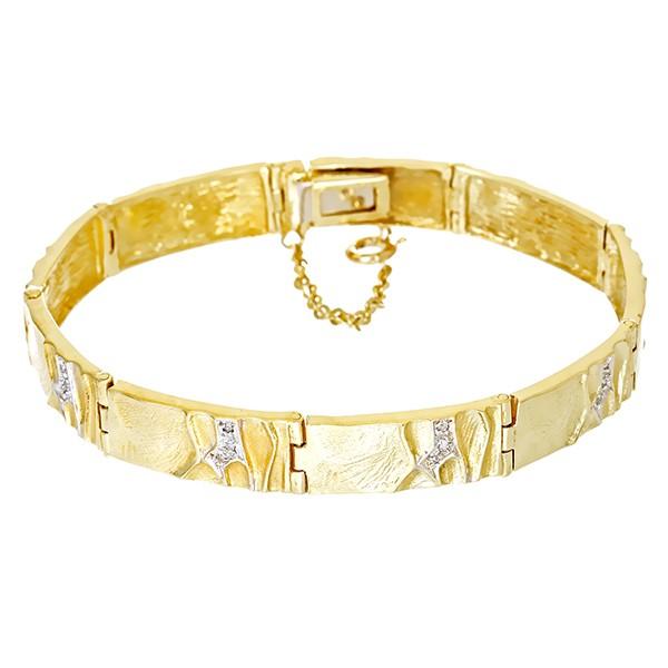 Armband 585 / 25,80gr Gelb-/Weißgold L 18 cm 27 Dia z.ca. 0,09ct Detailbild #1
