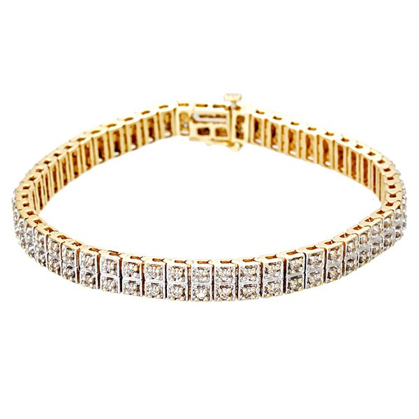 Armband 585 / 21,30gr Gelb-/Weißgold L 19 cm 106 Dia z.ca. 1,06ct Detailbild #1