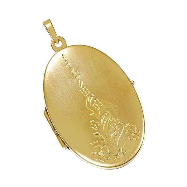 Anhänger 333 / 5,20gr Gelbgold Medaillon Detailbild #1