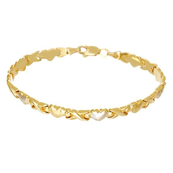 Armband 585 / 5,10gr Gelb-/Weißgold L 19 cm Fantasie- Detailbild #1