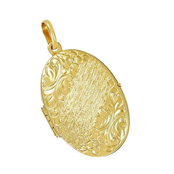 Anhänger 585 / 5,00gr Gelbgold Medaillon Tragespuren Detailbild #1