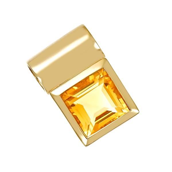Anhänger 375 / 4,20gr Gelbgold 1 Citrin Detailbild #1