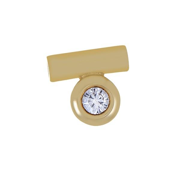 Anhänger 585 / 2,50gr Gelbgold 1 Brill. ca. 0,18ct lgW (I-J) SI Detailbild #1
