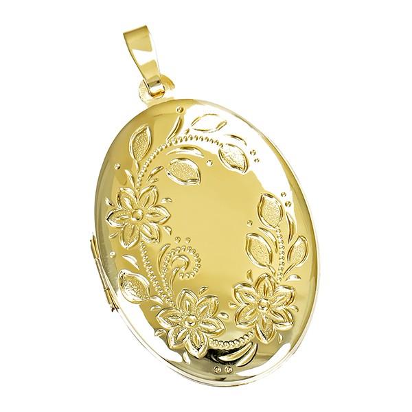 Anhänger 585 / 4,90gr Gelbgold Medaillon Detailbild #1
