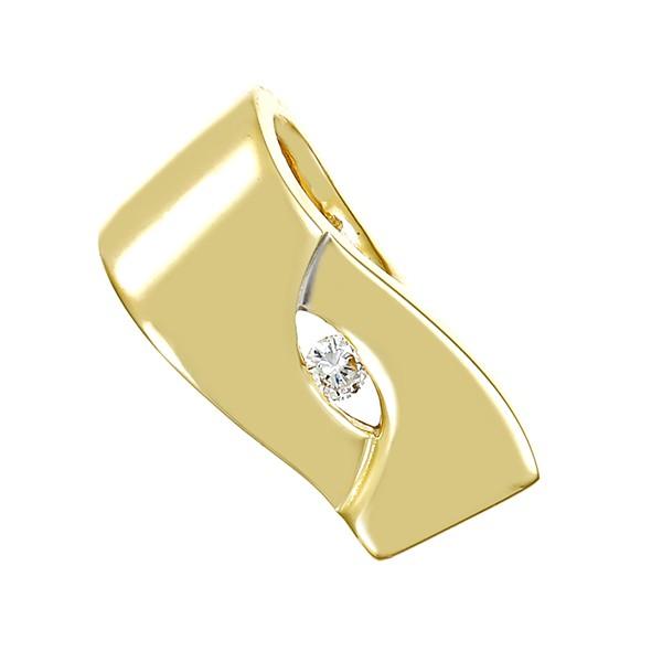 Anhänger 585 / 2,50gr Gelb-/Weißgold 1 Brill. ca. 0,04ct Detailbild #1