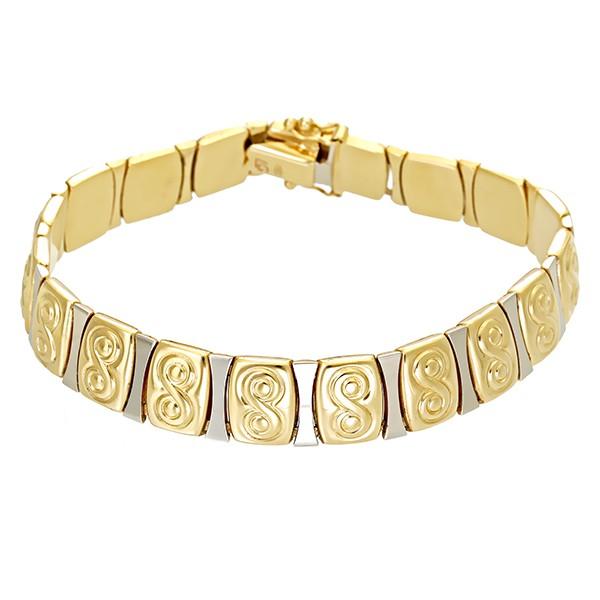 Armband 585 / 22,00gr Gelbgold L 19 cm Fantasie- Detailbild #1