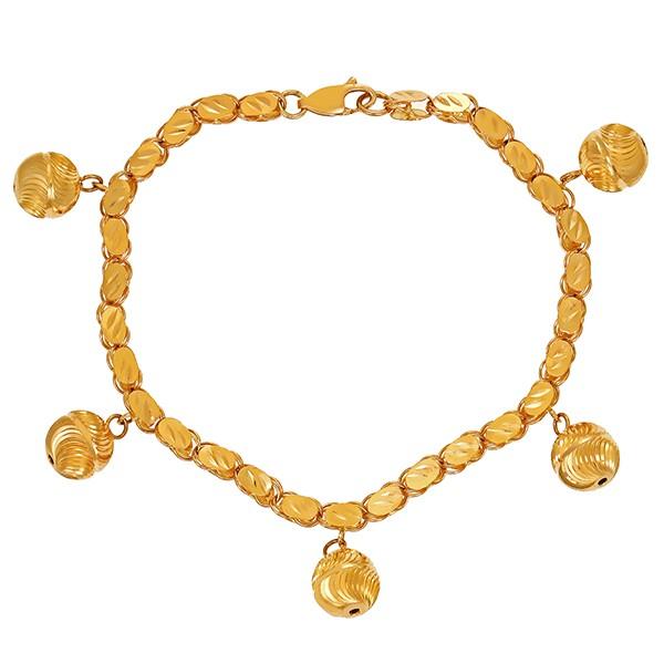 Armband 875 / 15,10gr Gelbgold L 21 cm Kugel Detailbild #1