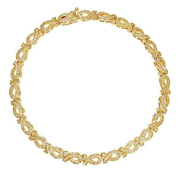 Armband 585 / 10,70gr Gelbgold L 19,5 cm 312 Dia z.ca. 1,00ct Detailbild #1