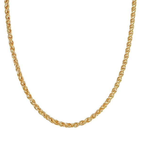 Collier 585 / 10,10gr Gelbgold L 41cm Zopf- Detailbild #1