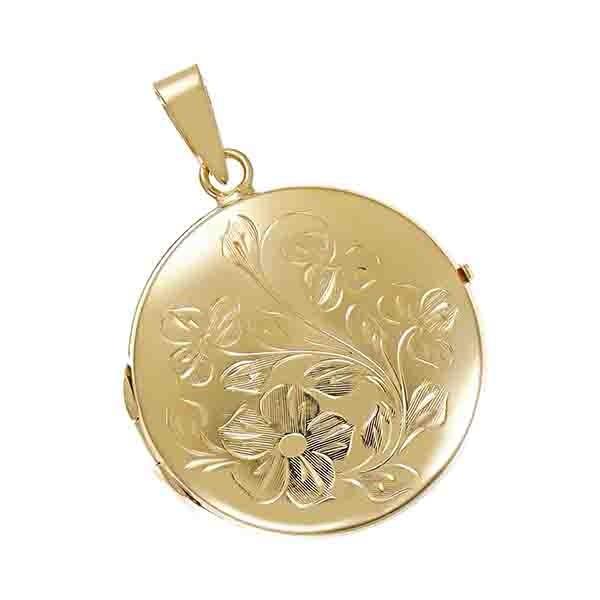 Anhänger 585 / 7,10gr Gelbgold Medaillon Detailbild #1