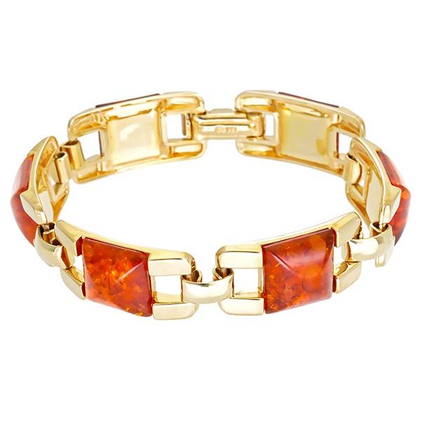 Armband 333 / 33,70gr Gelbgold L 19 cm 6 Bernsteine Detailbild #1