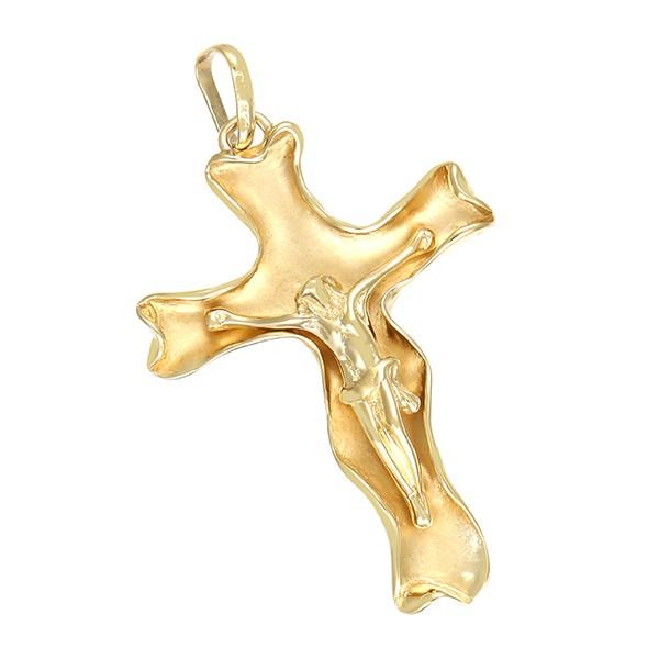 Anhänger 585 / 8,10gr Gelbgold Kreuz Kruzifix Detailbild #1