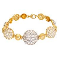 Armband 750 / 15,70gr Gelbgold L 17,5cm Zirkonia Detailbild #1