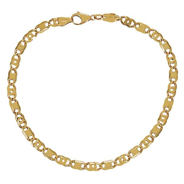 Armband 585 / 6,90gr Gelbgold Figaro- L 21 cm Detailbild #1
