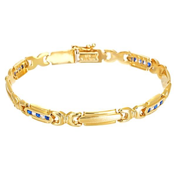 Armband 585 / 9,10gr Gelbgold L 19 cm 20 Zirkonia Detailbild #1