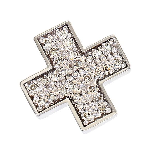 Anhänger 585 / 2,95gr Weißgold Kreuz 28 Dia z.ca. 0,28ct Detailbild #1