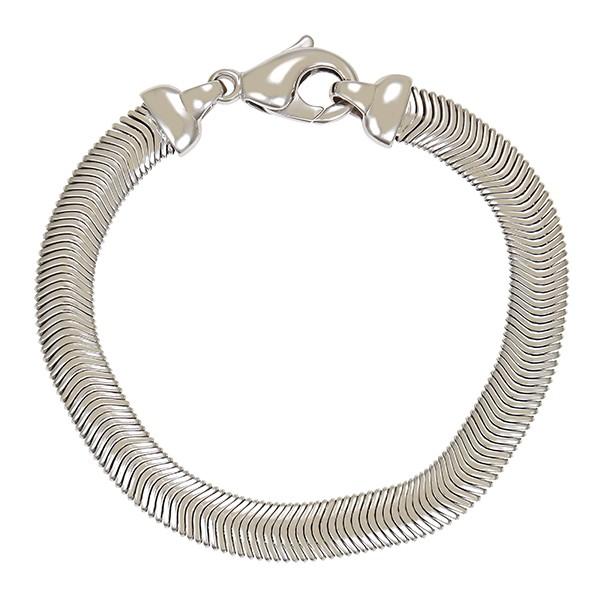 Armband 750 / 27,60gr Weißgold L 19,5 cm Schlangen- Schmuckstück wurde rhodiniert Detailbild #1