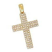 Anhänger 585 / 5,90gr Gelbgold Kreuz 84 Zirkonia Detailbild #1