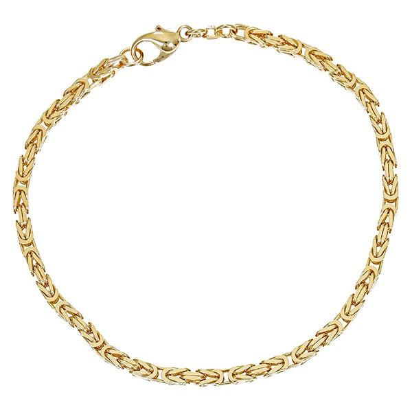Armband 585 / 15,10gr Gelbgold L 23 cm Königs- Detailbild #1